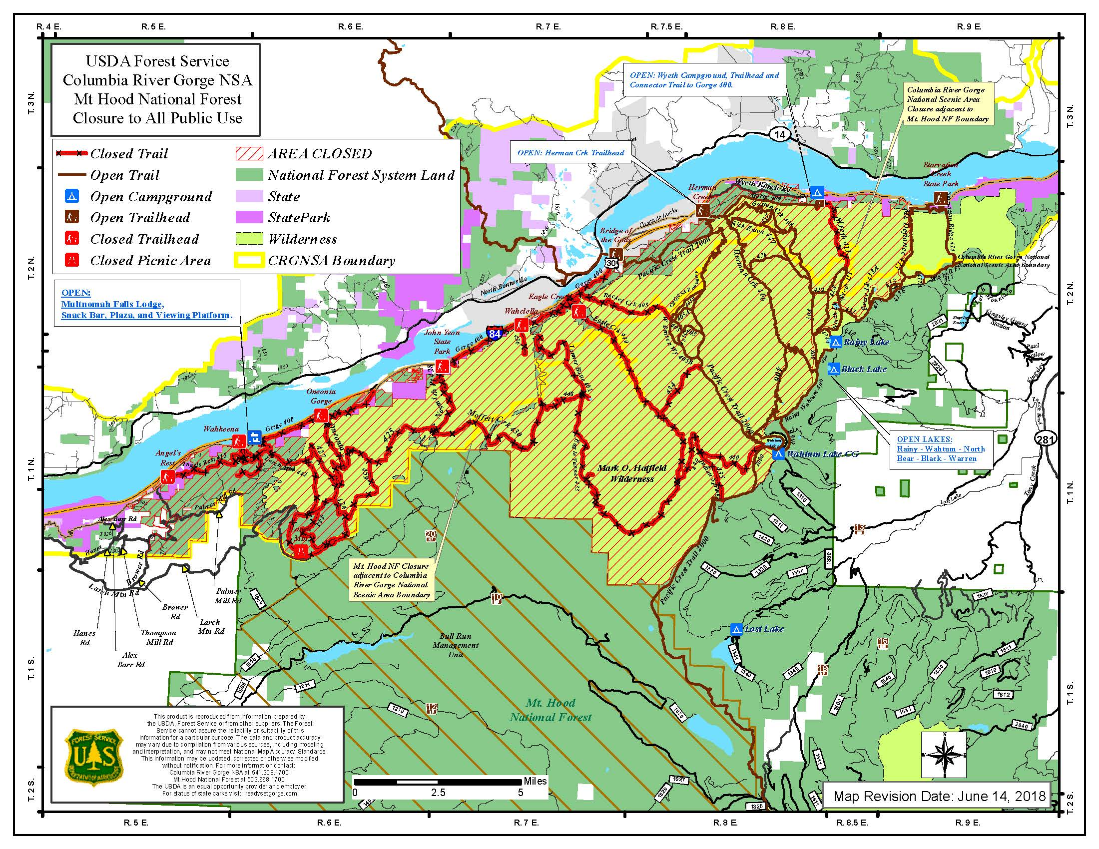Image of: Eagle Creek Fire In Columbia River Gorge Oregon Pacific Crest Trail Association
