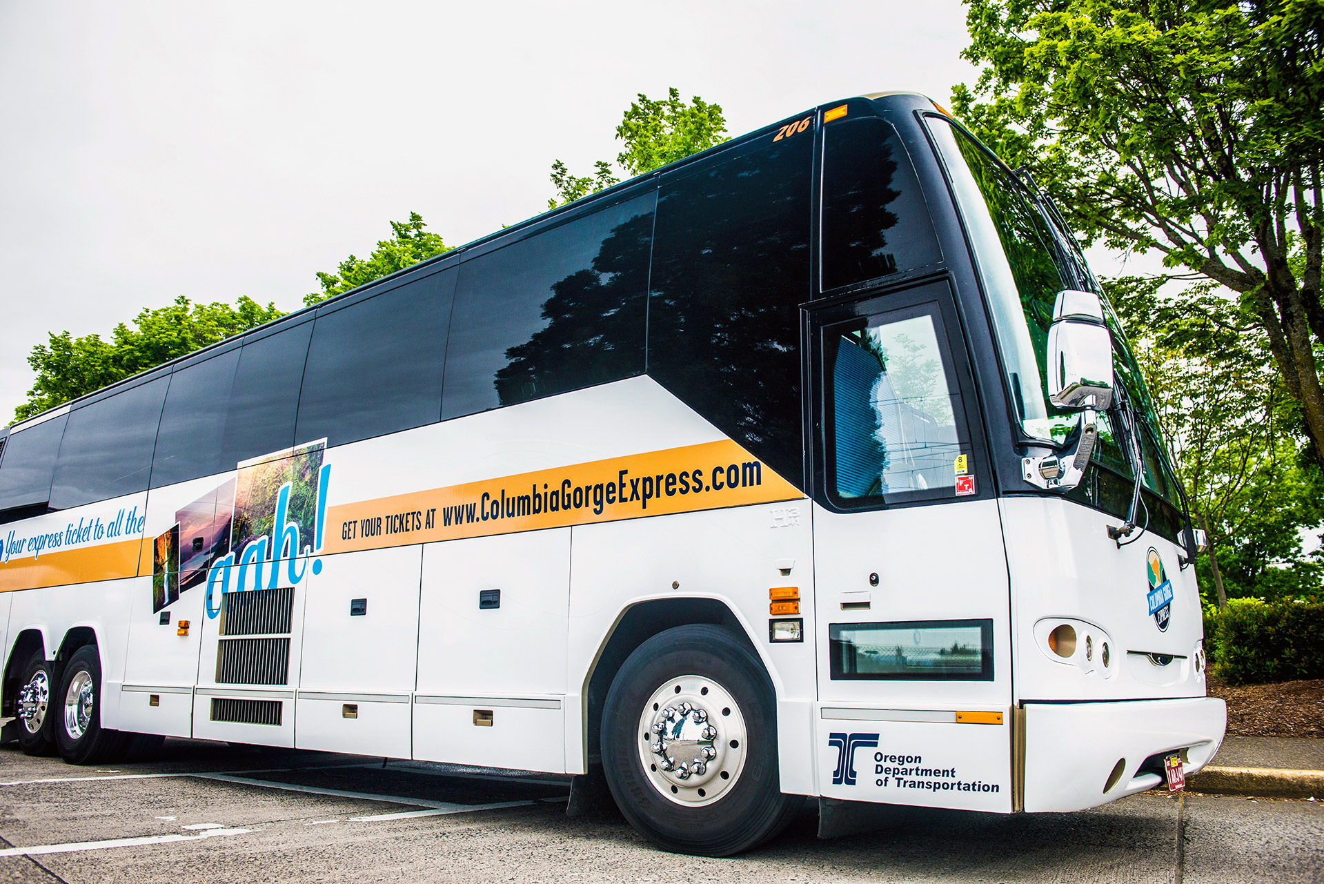 The Columbia Gorge Express bus will take you straight to the trail in Cascade Locks, Oregon. How great is that? Photo courtesy of Oregon Department of Transportation