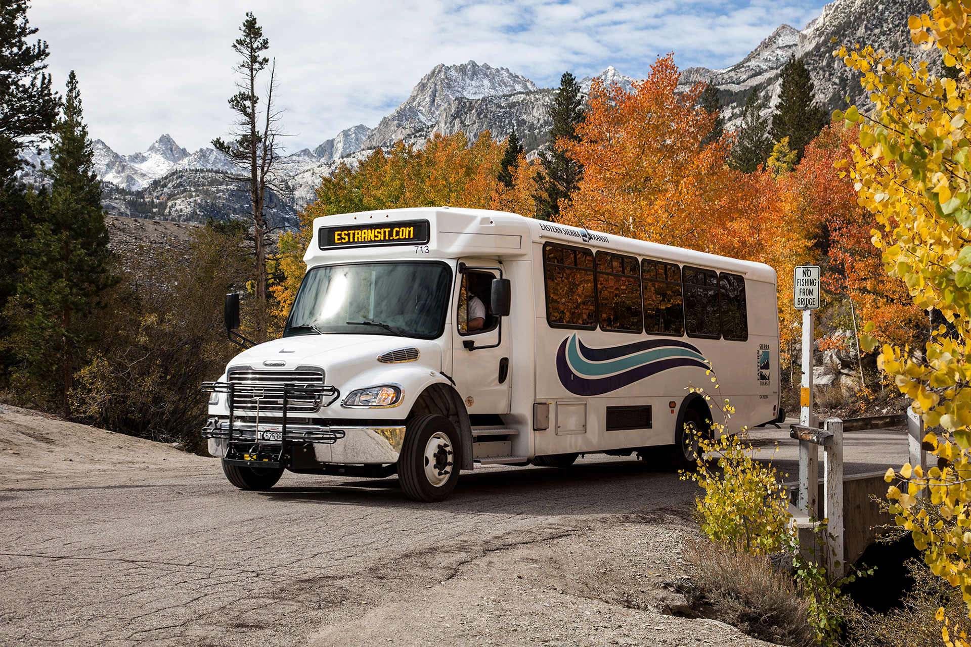 Eastern Sierra Transit is one of the outstanding rural transit companies that services the Pacific Crest Trail. We appreciate them so much. Photo courtesy of Eastern Sierra Transit.