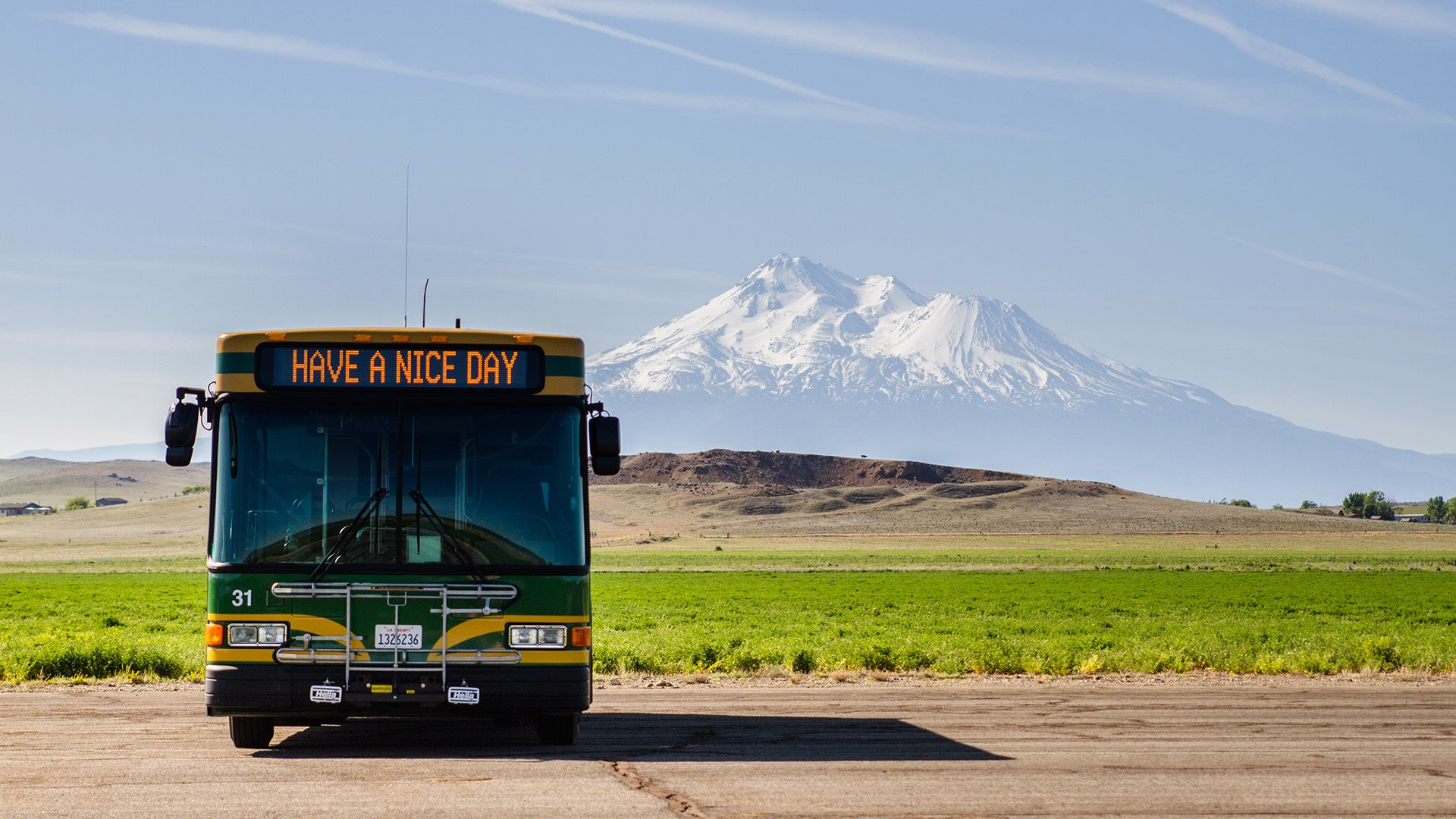 These rural transit companies are seriously wonderful. Take the bus! Photo courtesy of Siskiyou STAGE, run by Siskiyou County