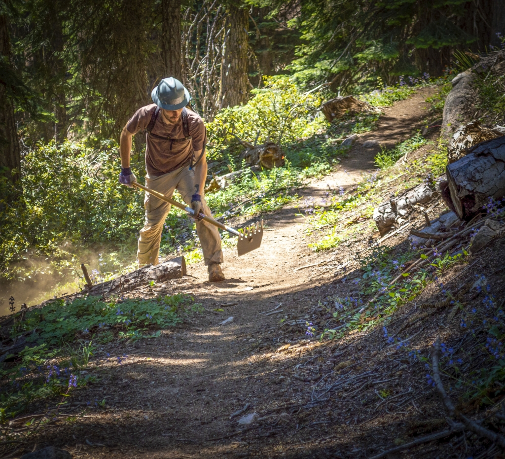 Trailwork near Mount Ashland in Oregon. Photo by Mick Mc Bride,