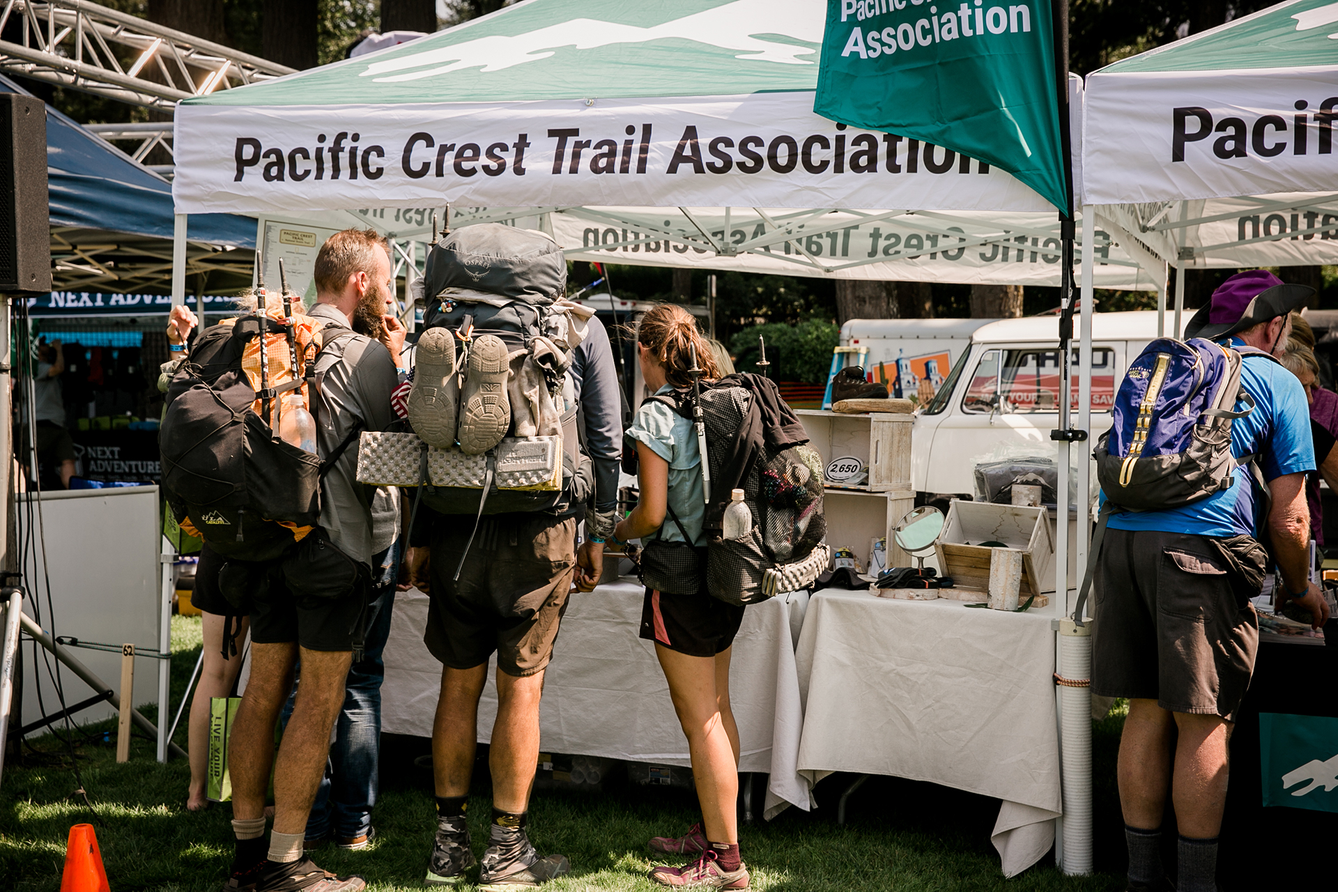 Visit our booth at PCT Days in Cascade Locks! Photo by Gray Feather Photography
