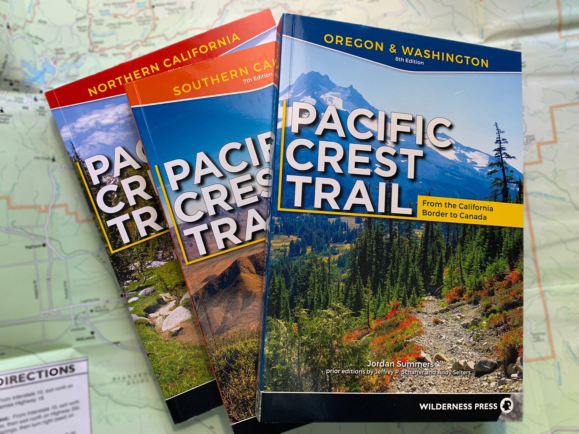 Wilderness Press PCT Guidebooks